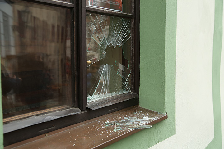 A2B Glass are able to board up broken windows while they are being repaired in Brixham.